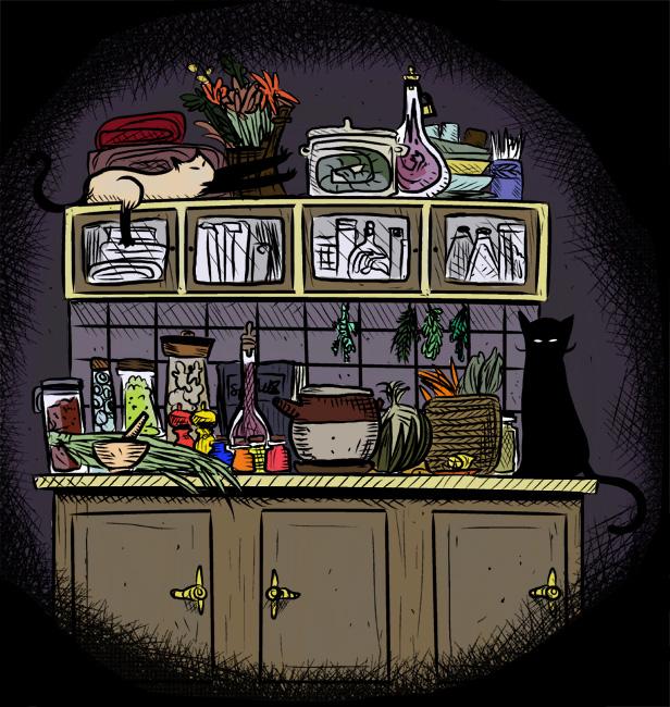 """Illustration - """"Clutter"""" by Alice Carroll (alicecarroll.net)"""