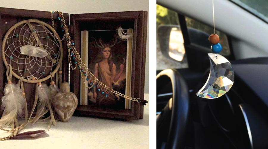 shrine, moon, charm, Artemis, Diana, Cindy, International Women's Day, Greek mythology