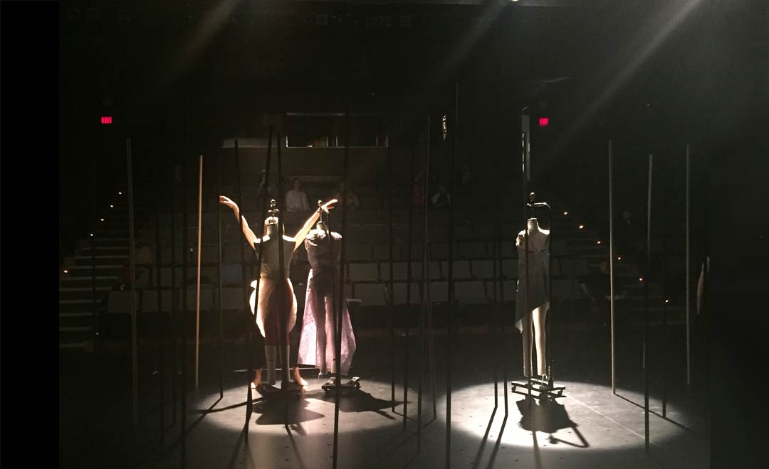 living mannequin, onstage, costumes, creative pathway