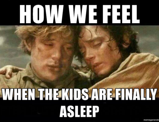 kids, asleep, family, tired