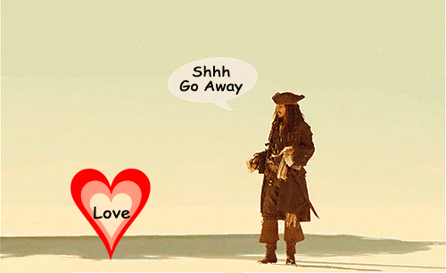 Jack sparrow gif go away